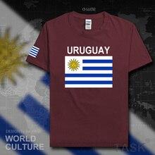 Uruguay mannen t shirts 2017 jerseys nation team tshirt 100% katoenen t-shirt sportscholen kleding sportscholen tees land sporting URY Uruguayaanse