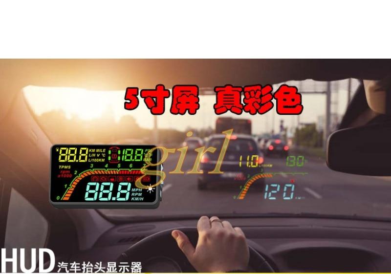 شاشة عرض أمامية للسيارة, OBD2 ، عداد السرعة ، لا يوجد ضغط للإطارات