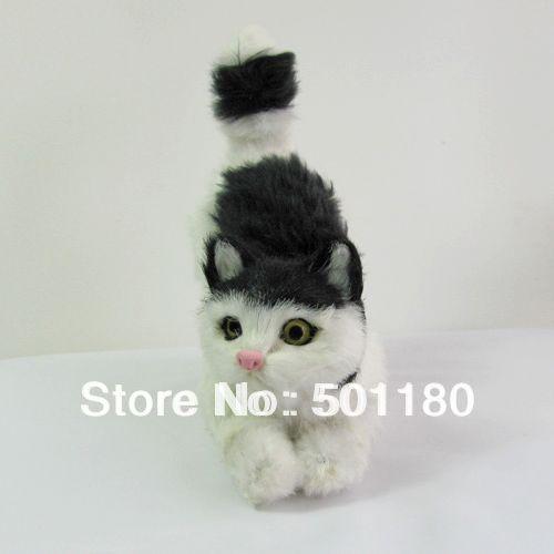 free shipping handmade craft cat  animal sculpture