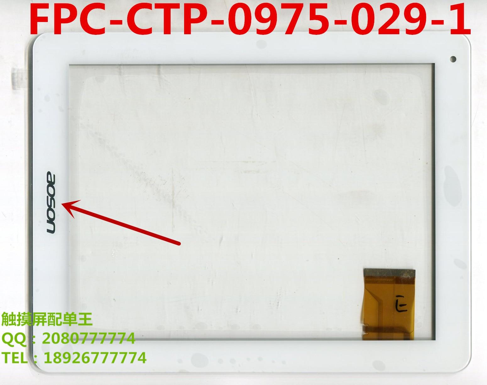 ¡9,7 pulgadas táctil panel de cristal para pantalla FPC-CTP-0975-029-1 FPC-CTP-0975-029-4 para 3Q Qoo! Surf LC9704A tablet pc