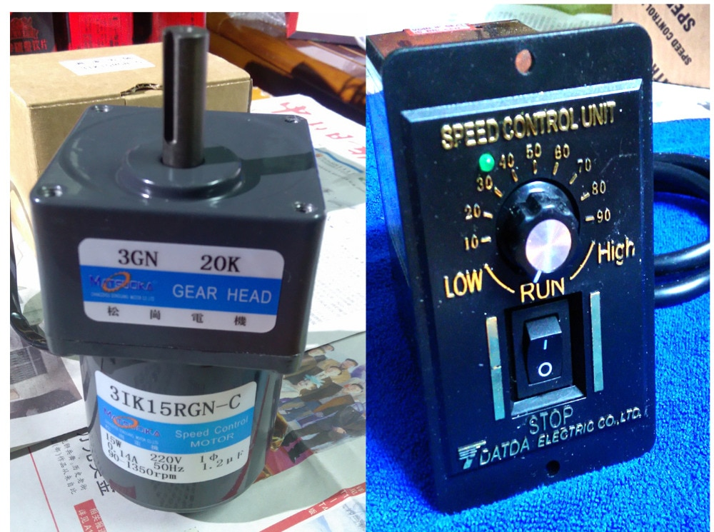 AC Motor 15 watt 220 v 50 hz 51k15rgn-c induktion motor getriebe getriebe verhältnis 101 speed controller heraus welle 12mm