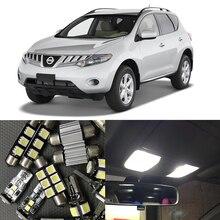 14 pcs Witte Canbus Led-lampen Interieur Pakket Kit Voor Nissan Murano 2009-2015 Auto Kaart Dome Kofferbak kentekenverlichting Lamp