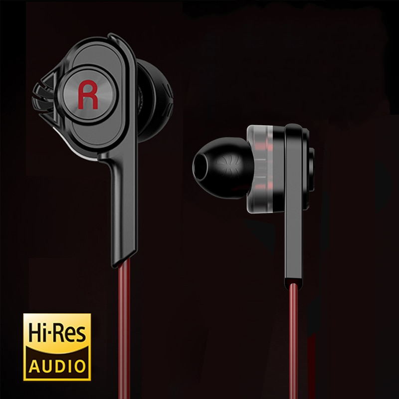UiiSii-auriculares T6 HIFI, auriculares de graves profundos con controlador Dual, auriculares con aislamiento de ruido, auriculares profesionales con micrófono y micrófono para teléfono inteligente