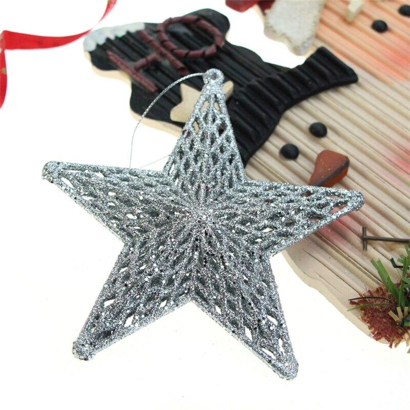 1 pieza polvo de oro tres dimensiones estrellas decoraciones de Navidad árbol de Navidad regalos adornos DIY fiesta producción Accesorios