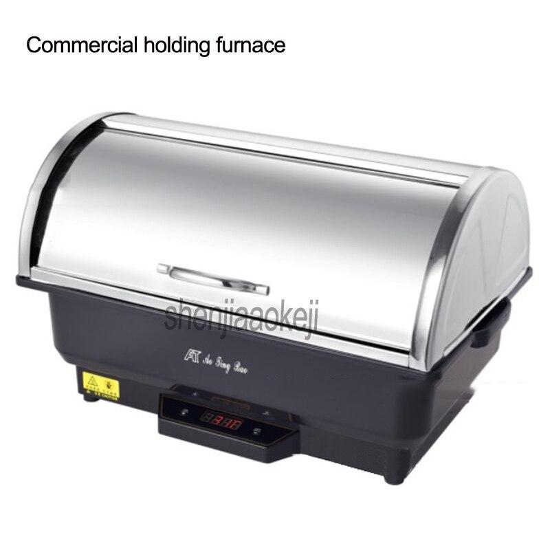 1 قطعة 9L التجارية عقد الفرن التحكم في درجة الحرارة بوفي فرن الفولاذ المقاوم للصدأ نصف الوجه بوفيه موقد 220 فولت/110 فولت 500 واط