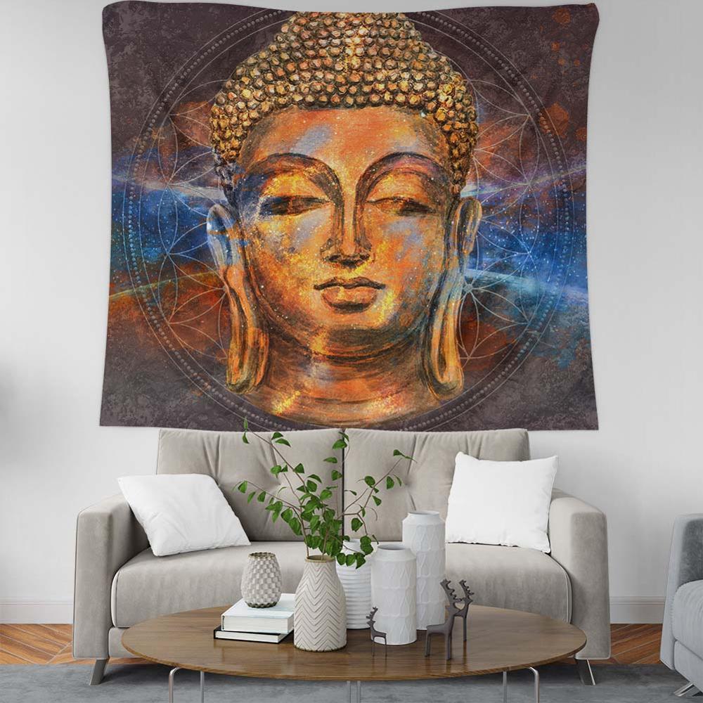 Sagrado relajarse de tapices cósmica meditación Ethereal Mandala gran colchas de decoración astrología Ramadán Kareem pared Manta