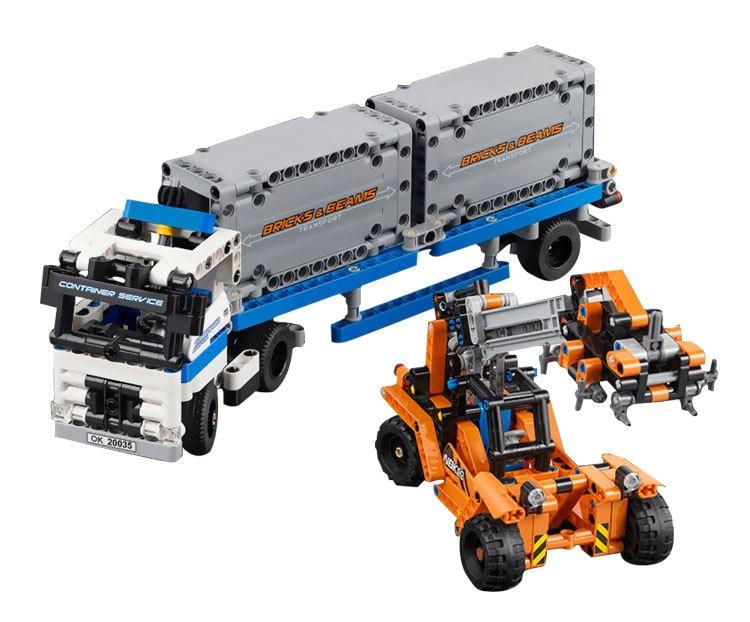 CX 20035 631 шт модель, строительные наборы, совместимые с 42062, контейнерные грузовики и погрузчики, набор, игрушка для детей