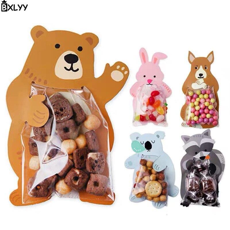 BXLYY 10 stück Kawaii Cartoon Karte Candy Tasche Lebensmittel Tasche Backen Dekoration Geschenk Box Geschenke für Das Neue Jahr Verpackung papier Baby Shower.7