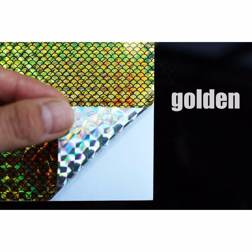 Купить с кэшбэком Tigofly 6 pcs 10X21cm Holographic Adhesive Film Flash Artificial Fish Scale Skin Jig Sticker Hard Baits Lures sticker Fly Tying