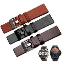 Bracelet de montre universel en cuir pour Bracelet de montre Diesel Bracelet de montre Bracelet ForDZ1399 DZ4280 Bracelet DZWatchband Straps22 24 26 28 30