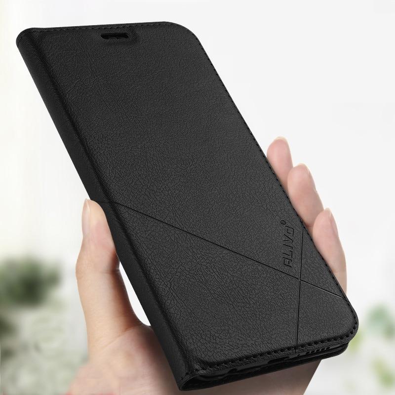 100% Original Huawei mate 20 lite Funda de cuero PC Material duro funda trasera con ranura tarjeta cubierta trasera