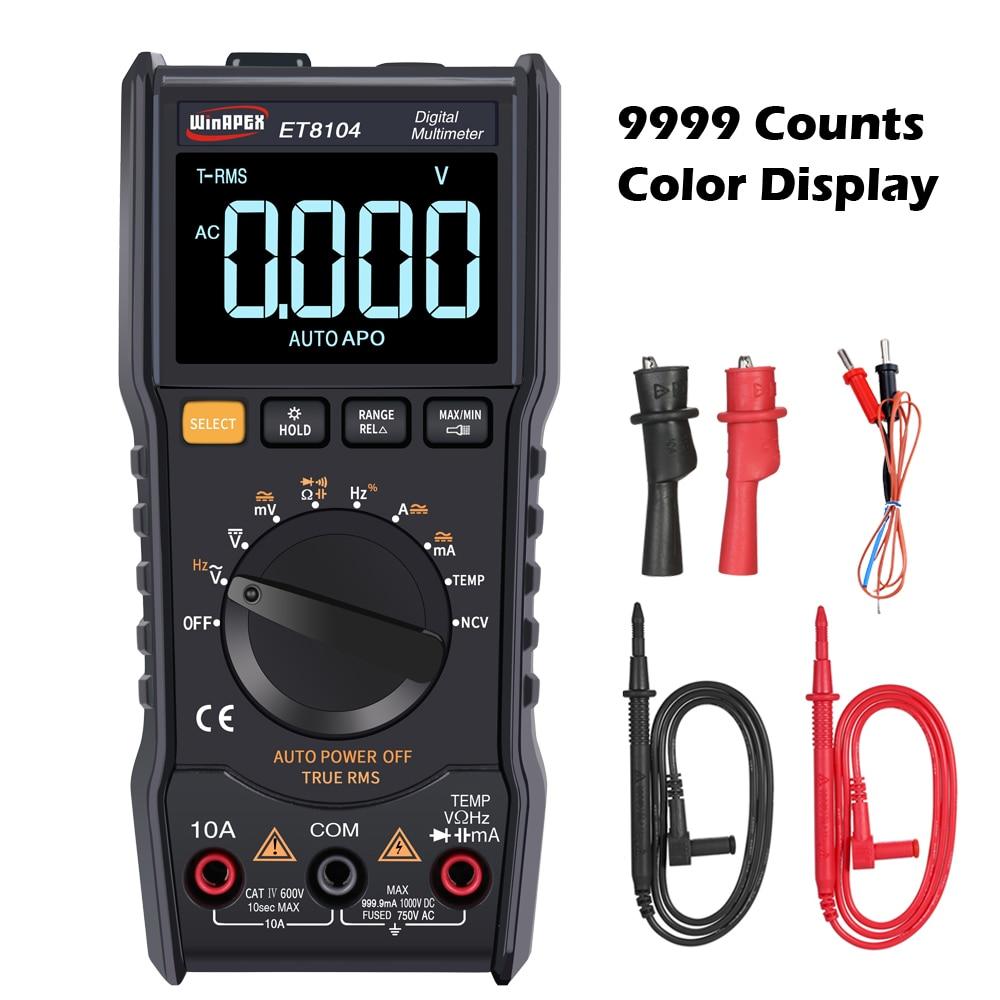 WinAPEX Digital Multimeter 9999 Zählt Farbe Display True RMS Tester AC/DC ACA/DCA Aktuellen Kapazität Widerstand Meter temp