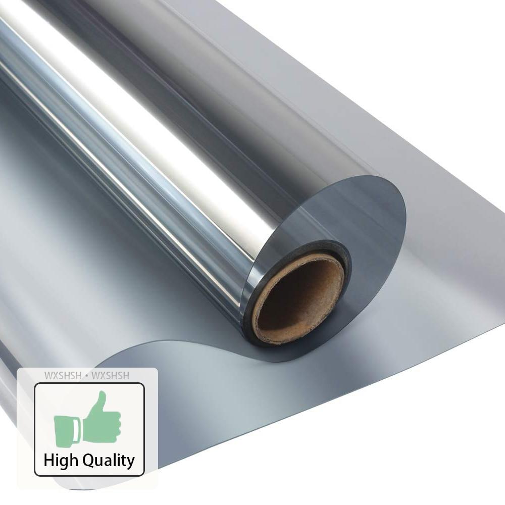 40/50/60/70/80/90x500 Cm One Way Mirror Window Film,Vinyl Self-adhesive Reflective Solar film Privacy Window Tint for Home