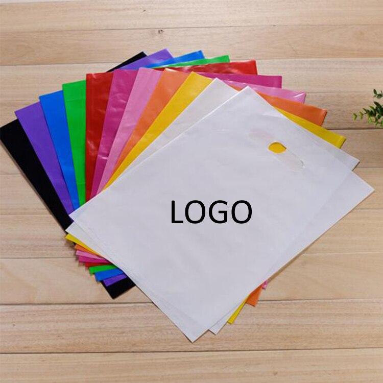 Frete Grátis 200 pcs impressão do logotipo do Projeto tote embalagem de plástico grande saco de lidar com/custom impresso pebd compras sacos do casamento