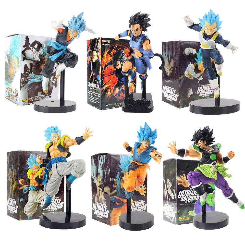 Anime dragon ball super saiyan son goku vegeta broly ultimate soldados batalha estatueta figura de ação pvc coleção modelo brinquedos