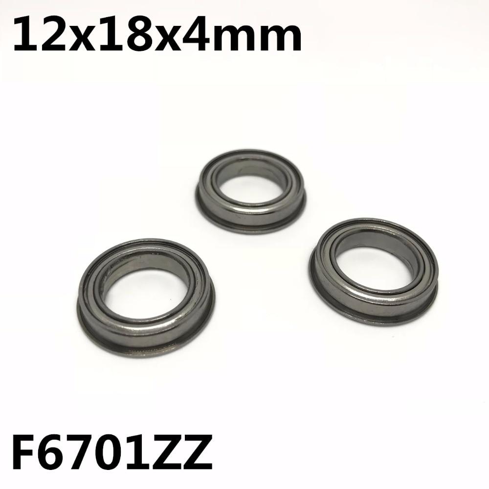 محامل شفة F6701ZZ 12x18x4 مم ، محامل كروية ذات أخدود عميق ، جودة عالية ، 50 قطعة ، F6701