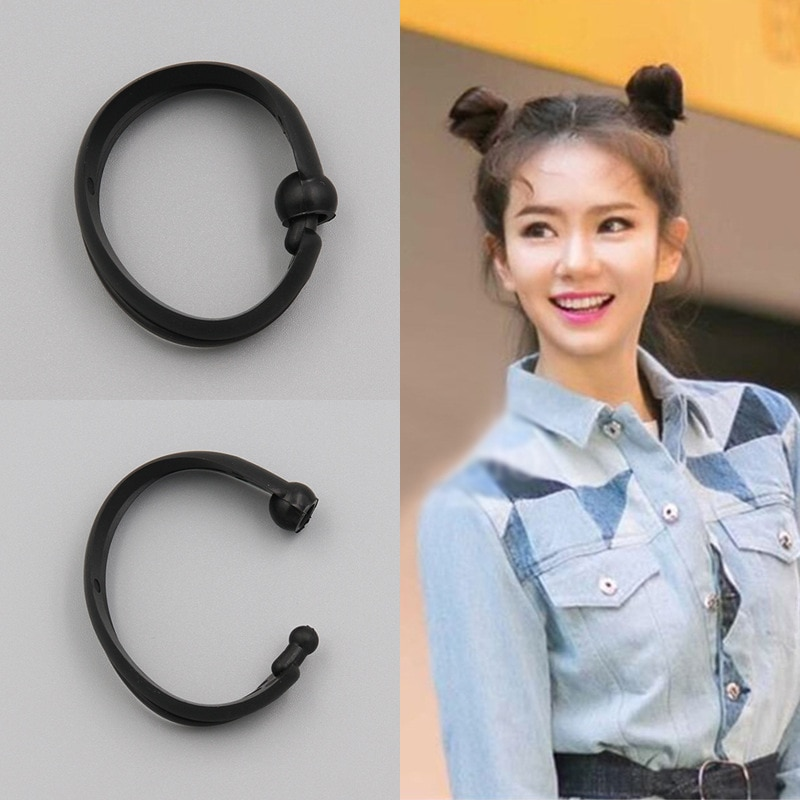 2 pcs novo cabelo mágico rápido fabricante de cabelo banda bud redondo diy updo donut ferramentas estilo do cabelo bandana para as mulheres acessórios para o cabelo