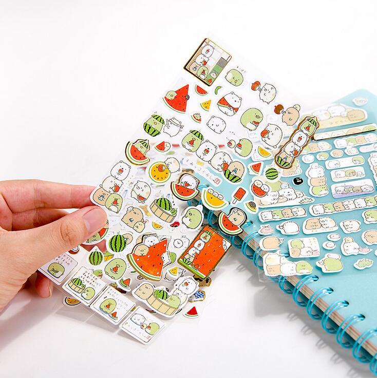 Watermelon Sumikko Gurashi Cartoon Gilding Decorative Washi Stickers Scrapbooking Stick Label Diary Stationery Album Stickers