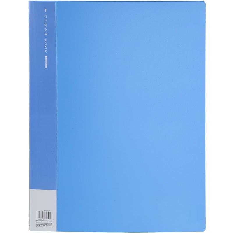 Carpeta Comix Nf40a3 para Clip de documentos (40 bolsillos) carpeta de archivos de carpeta A3 para carpeta de documentos para libro de exhibición estándar de papel