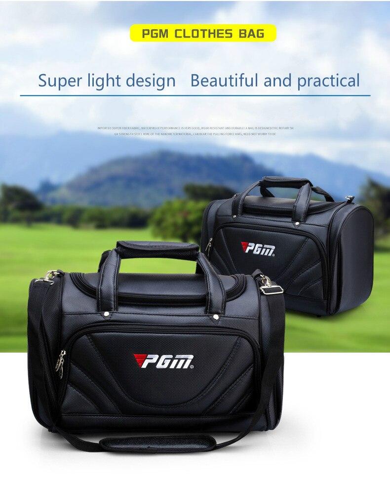 PGM сумка для гольфа, мужская сумка из искусственной кожи с шариком, многофункциональная сумка для одежды, очень вместительная