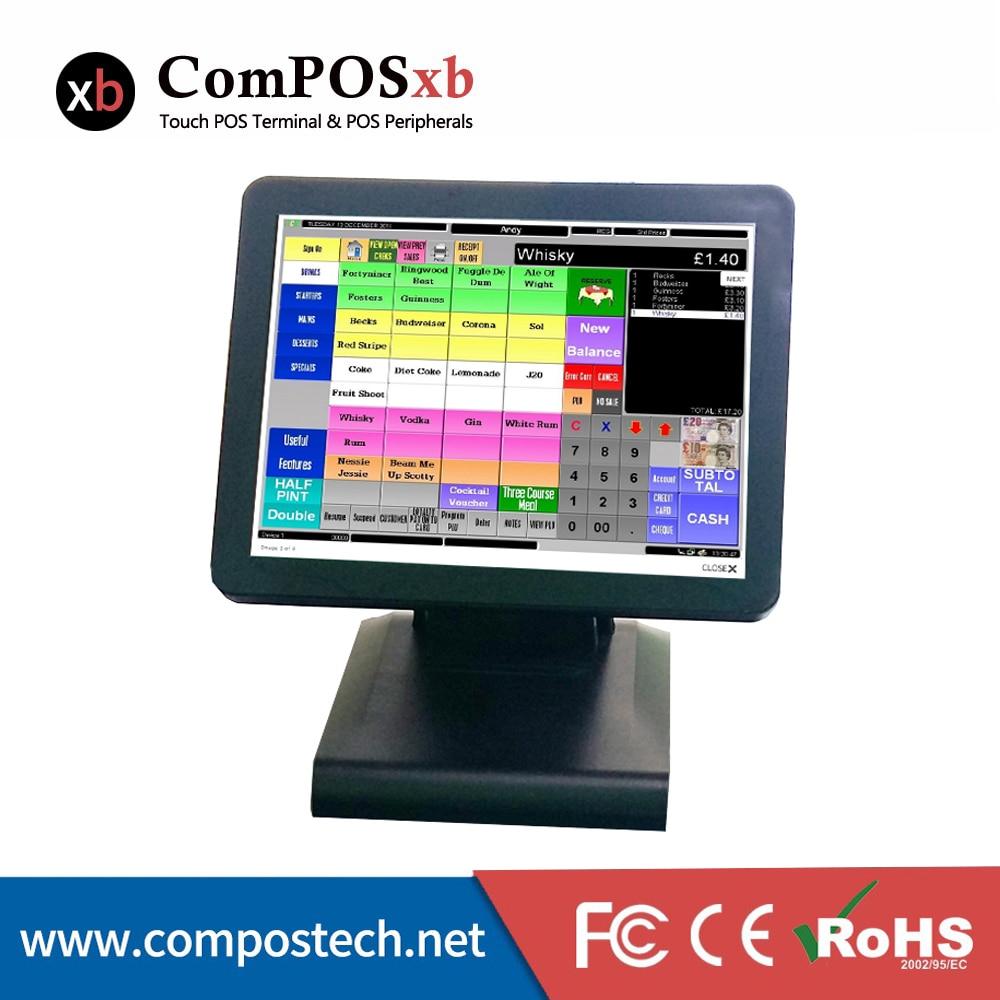 Sistema POS capacitivo de 15 pulgadas restaurante todo en un punto de venta caja registradora Pos Terminal POS1619C