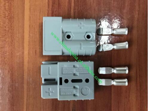 Conector de clavija de 50a y 600V para cargadores de baterías Carvan, equipos de soldadura de paneles solares, conector SMH con terminal de 6AWG,8AWG,12AWG