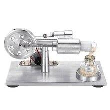 Hot Air Motore Stirling Esperimento Modello di Generatore di Potenza Del Motore Educativi Fisica A Vapore Power Toy Regali di Design