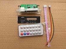 Mp3 디코딩 보드 모듈 led aux w/tf 카드 슬롯/usb/fm/원격 클럭 디코딩 보드 모듈