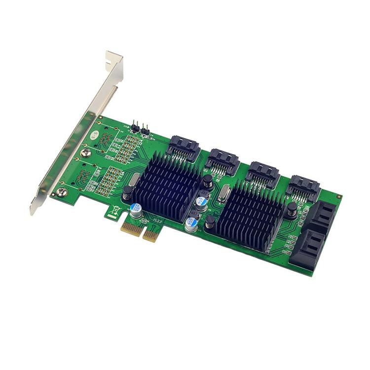 PCI-E à 8 Ports SATA 3.0 6 Gb/s Carte Dextension 88SE9215 + 9705 Chipset pour Marvell 8 sata3 PCIE