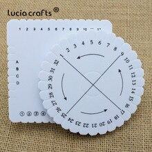 Lucia disque carré rond cordon tressé   Artisanat, plaque de disque de tissage fait main, matériaux de bricolage, outils de couture J0136