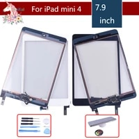 10pcslot original for apple ipad mini 1 2 3 4 touch screen digitizer with home button assembly front glass touch panel tablet