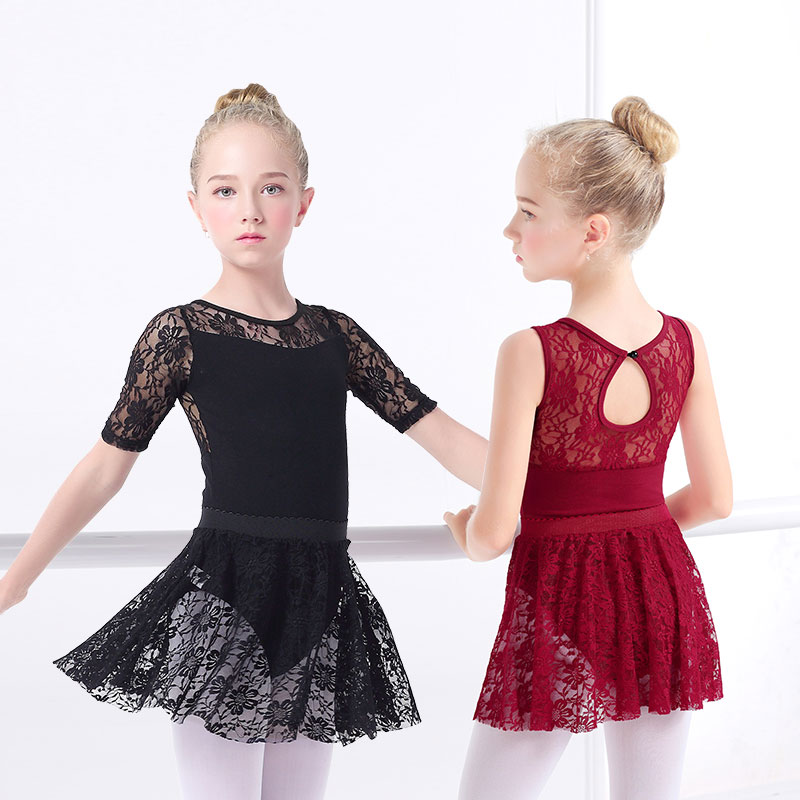 AliExpress - Girls Ballet Dress Gymnastic Leotards Lace Skirted Leotards Long Sleeve Kids Toddler Gymnastic Swimsuit For Dancing