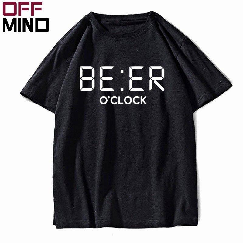OFF MIND 100%, camiseta divertida de algodón OCLOCK para hombre, camiseta informal holgada de verano para hombre, camiseta guay con cuello redondo, camisetas para hombre FU0134
