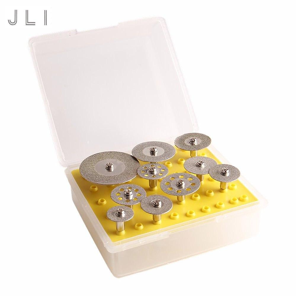 JLI 10 Uds 16/19/20/22/25/30/40mm diámetro de la hoja de sierra Circular disco de corte rebanada dremel accesorios Kits herramientas rotativas
