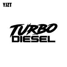 YJZT 15.8CM*6.3CM Fashion TURBO DIESEL Vinyl Car-styling Decoration Car Sticker Decal Graphical Black/Silver C11-0630