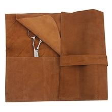 Véritable cuir décontracté cheveux ciseaux sacs élégance Design longue ceinture manucure style boîte à outils accessoires de coiffure UN316