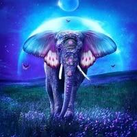 5d diy diamond painting colorful elephant full roundsquare diamond embroidery cross stitch diamond crystal wall painting