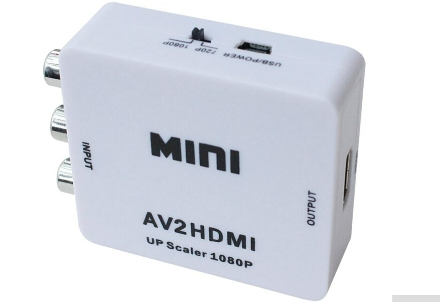 RCA to HDMI AV to HDMI 1080P AV2HDMI Mini AV to HDMI Converte Signal Converter for TV VHS VCR,DVD Records Chipsets Shown AV2HDMI