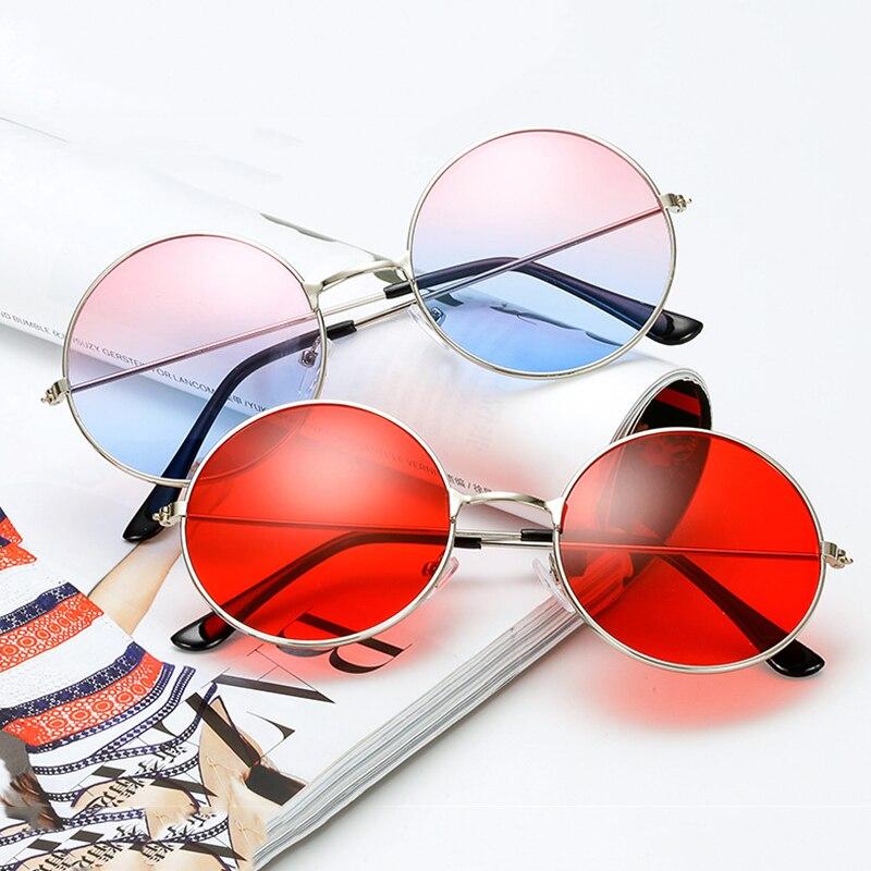 MLLSE Vintage Round Sunglasses Women Solid and Ocean Color Lens Sun Glasses Brand Design Metal Frame Circle Female Sunglasses