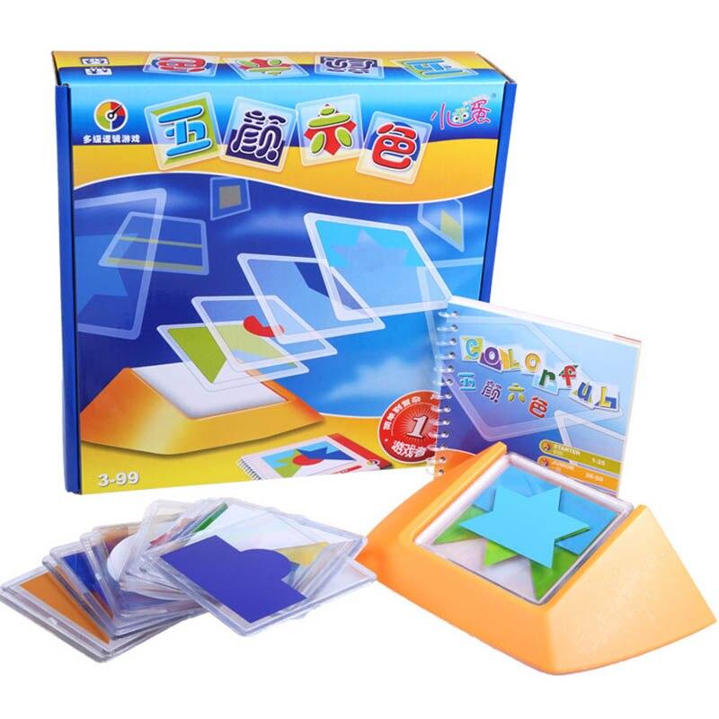 ¡Novedad de 2018! Juego de rompecabezas de código de Color de 100, juegos de rompecabezas Tangram, juguete infantil puzle, desarrollo de habilidad, juguete de inteligencia