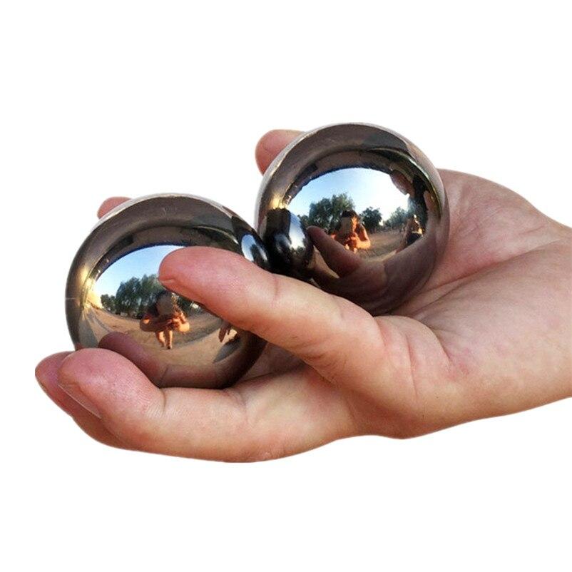 De acero sólido de baoding Bola de ejercicio y Handbol medio edad sensorial Bola de ejercicio a mensaje medicina bolas 1 par