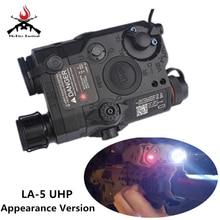 Airsoft LA-5 UHP Rode Laser IR Laser LED Zaklamp Uiterlijk Versie LA5 IR Laser PEQ Rode Laser Tactical jacht Zaklamp
