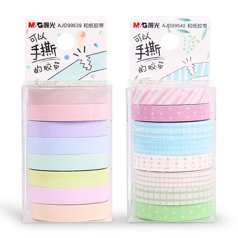 16PCS/2sets M&G Chenguang stationery 7mm*5m meetape ice cream set paper tape masking tape washi tape