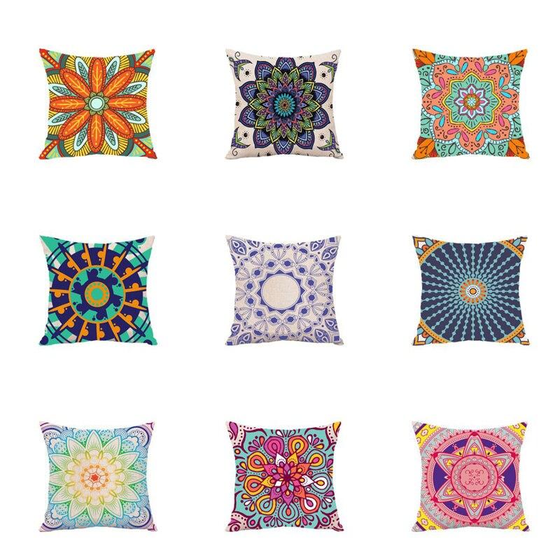 El Sudeste asiático estilo mandala cojín bohemio geométrico almohada de poliéster caso a casa funda decorativa para cojín para sofá Coche