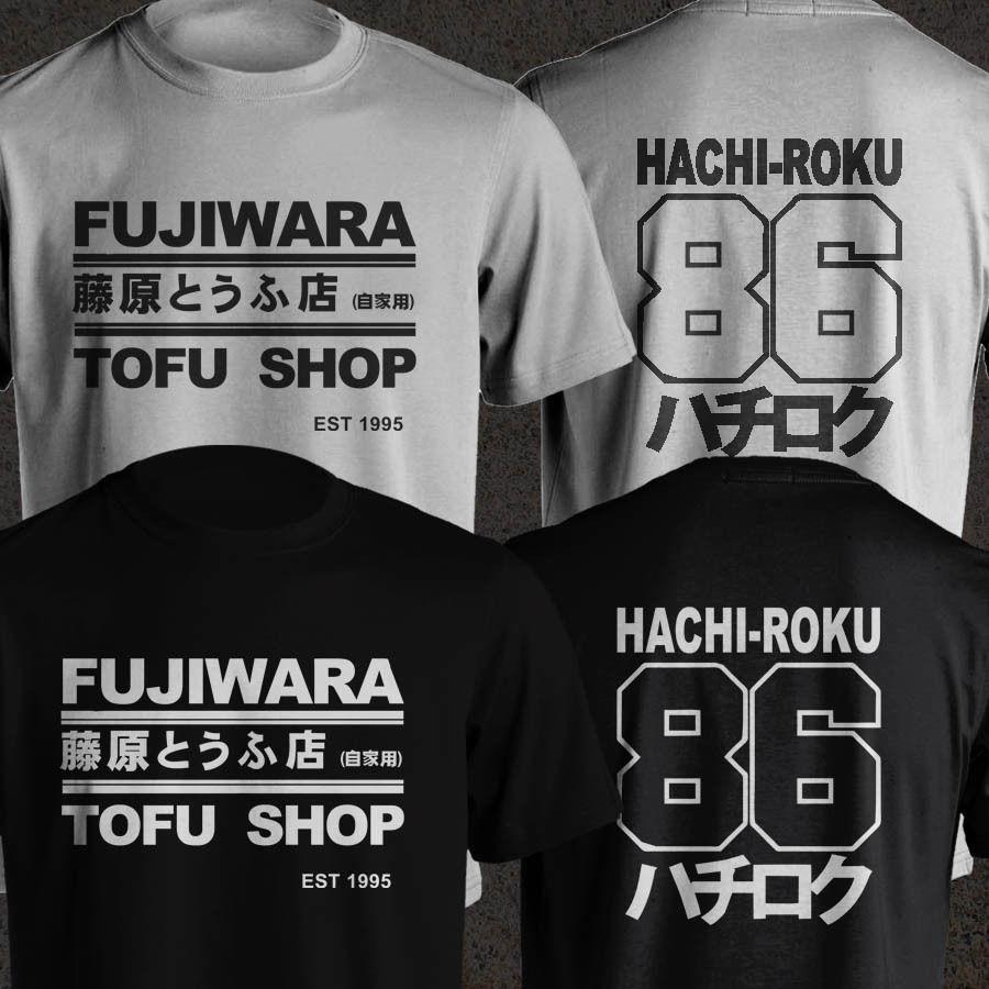 2019 divertida camiseta Unisex Takumi Fujiwara Tofu Shop Delivery Ae86 inicial D Manga Hachiroku para hombre