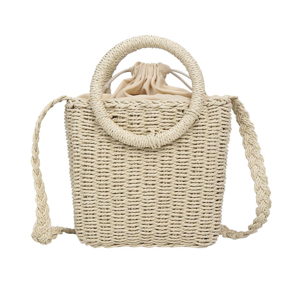 OCARDIAN Handbag Women Bag 2019 Fashion Beach Bags Rattan Straw Woven Solid Color Versatile Shoulder Crossbody Bag Tote A13