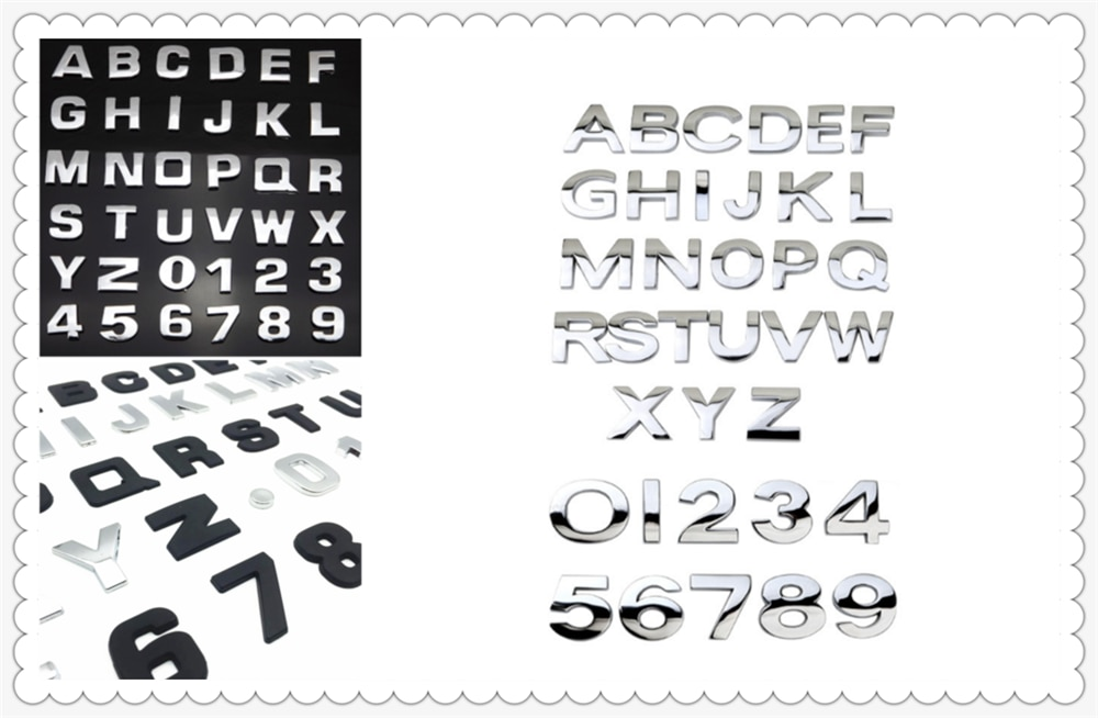 Accesorios de coche 3D metal digital etiqueta carta auto decoración para BMW M8 M550i M550d M4 M3 M240i M140i 530i 128i