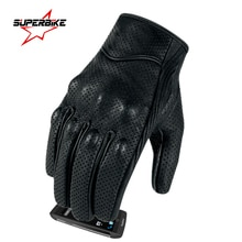 Мотоциклетные перчатки для мужчин и женщин, кожаные перчатки для езды на велосипеде с сенсорным экраном, перчатки для мотокросса