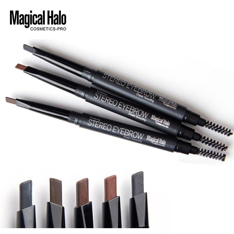 Автоматический карандаш для бровей Magic Halo, водостойкая кисть для бровей, долговечный карандаш для бровей, косметика для бровей