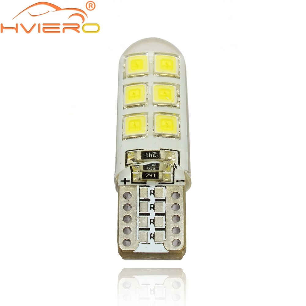 Weiß Auto LED T10 W5W DC 12V Canbus 12 SMD Silikon Wasserdichte 194 LED Wedge-glühlampe Kein Fehler led Parkplatz Nebel licht Auto Led